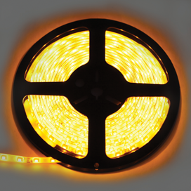 Ecola LED strip 220V STD 4,8W/m IP68 12x7 60Led/m Yellow желтая лента 20м, S20Y05ESB