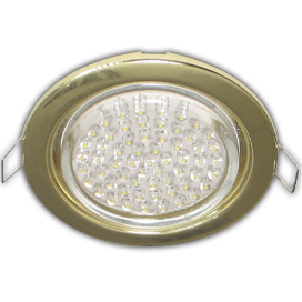 Ecola GX53 H4 Downlight without reflector_gold (светильник) 38x106 - 10 pack, FG5310ECB