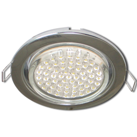 Ecola GX53 H4 Downlight without reflector_chrome (светильник) 38x106 - 10 pack, FC5310ECB