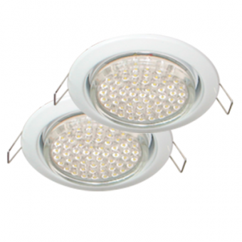 Ecola GX53 H4 Downlight without reflector_white (светильник) 38x106 - 2pack, FW53P2ECB